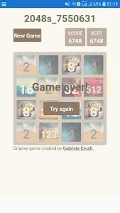 screenshot of 2048s version 1.0
