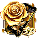 Download 3D Luxury Gold Rose Theme 1.1.2 APK