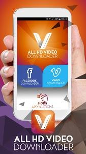 screenshot of All HD Video Downloader version 1.0