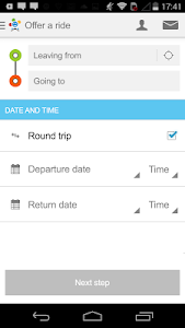screenshot of BlaBlaCar, Trusted Ridesharing version 4.3.8