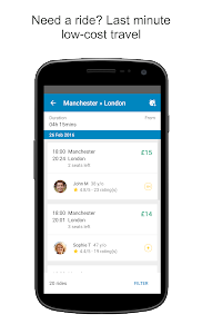 screenshot of BlaBlaCar, Trusted Carpooling version Varies with device