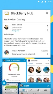 screenshot of BlackBerry Hub version 1.6.2.16480