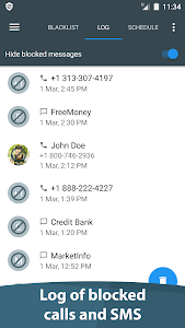 screenshot of Calls Blacklist - Call Blocker version 3.2.12