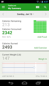 screenshot of Calorie Counter by FatSecret version 4.2.4