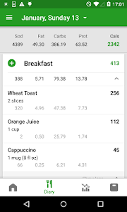 screenshot of Calorie Counter by FatSecret version 7.8.27