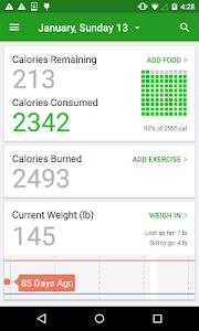 screenshot of Calorie Counter by FatSecret version 4.5.0.0.36