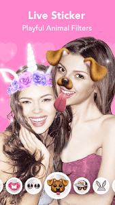 screenshot of Face Filter, Selfie Editor - Sweet Camera version 1.5.0