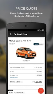 screenshot of CarWale- Search New, Used Cars version 4.6.1
