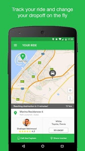 screenshot of Careem - Car Booking App version 7.7.0