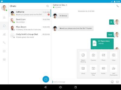 screenshot of Cisco Jabber version 12.5.0.272870
