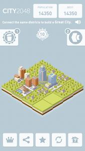 screenshot of City 2048 version 1.4.7