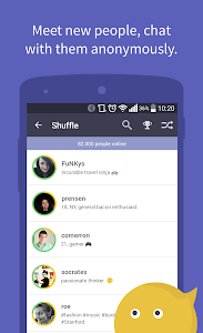 screenshot of Connected2.me Chat Anonymously version 2.1.0