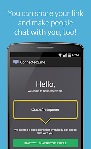 screenshot of Connected2.me Chat Anonymously version 1.11.11