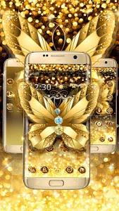 Download Diamond Butterfly Golden Theme 1.1.6 APK