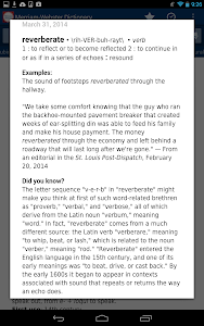 screenshot of Dictionary - Merriam-Webster version 3.1.6