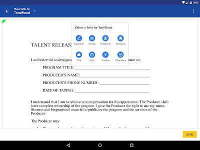 screenshot of DocuSign - Upload & Sign Docs version 3.9.1