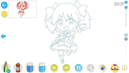 screenshot of DrawShow: Anime Manga Tutorial version 2.0.3
