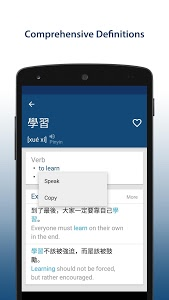 screenshot of Chinese English Dictionary version 9.8.0