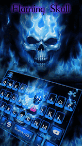 screenshot of Flaming Skull Kika Keyboard version 37.0