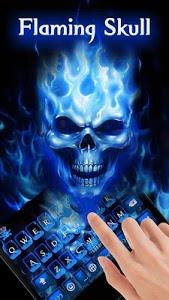 screenshot of Flaming Skull Keyboard Theme version 52.0