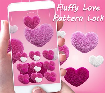 Download Fluffy love Theme Pink heart 1.1.7 APK