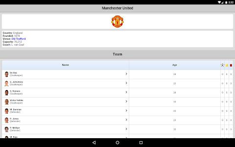 screenshot of Football Live Scores version 3.3