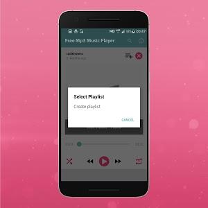 screenshot of Free Mp3 Music Player version 1.0