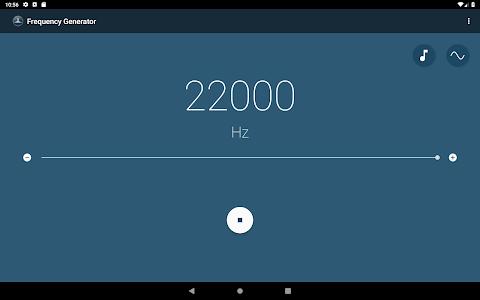 screenshot of Frequency Sound Generator version 2.4