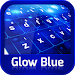 Download Keyboard Glow Blue 10.1 APK