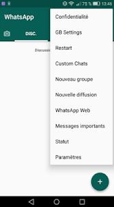 screenshot of Gbwhatsapp version 1.0