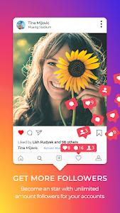 screenshot of Get Followers for Instagram 2019 version 1.1