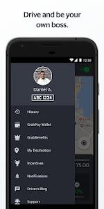 screenshot of Grab Driver version 5.41.0