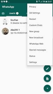 screenshot of Guide GBWhatsapp Twin account version 2.1