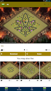 screenshot of Top ★ Clash Maps for COC version v.1.2.5