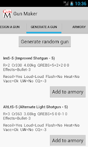 screenshot of Gun Maker version 1.0