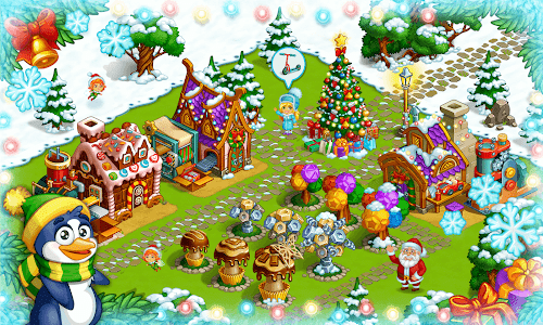 screenshot of Farm Snow: Happy Christmas Story With Toys & Santa version 1.62