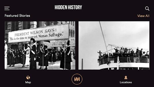 screenshot of Hidden History version 0.0.1