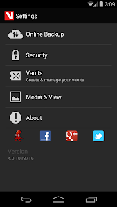 screenshot of Hide Pictures & Videos - Vaulty version Varies with device
