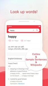 screenshot of Hindict-Hindi English dict version 1.3.0