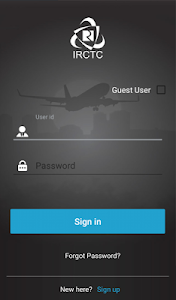 screenshot of IRCTC AIR version 4.03