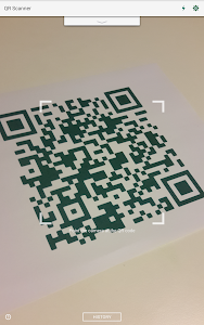 screenshot of QR Code Reader and Scanner: App for Android version 1.3.4.83