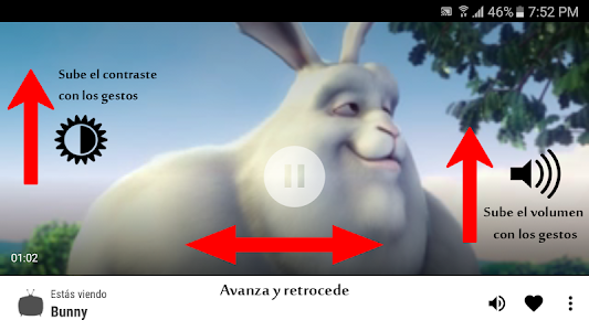 screenshot of Latino Web IPTV Player version 1.2
