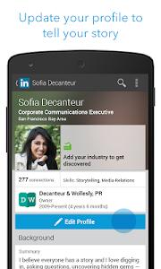 screenshot of LinkedIn version 3.4.9
