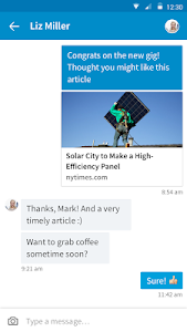 screenshot of LinkedIn version 4.1.26