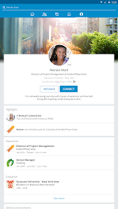screenshot of LinkedIn version 4.0.61