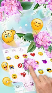 Download Lovely Pink Orchid Flowers Keyboard 10001004 APK