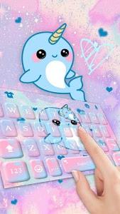 Download Lovely Unicorn Whales Keyboard Theme 6.0 APK