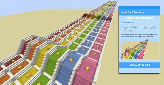 Download Lucky Block Race Map 1.0 APK