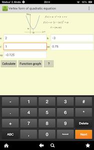 screenshot of Math Expert version 4.0.1