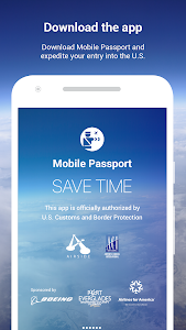 screenshot of Mobile Passport (CBP authorized) version 2.16.1.0